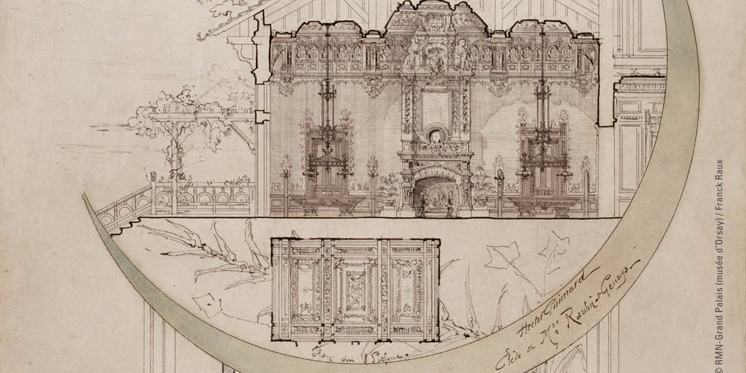 Architectural Drawings And Objets Dart In The Musee DOrsay Collection