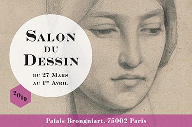 Affiche de la 28ème édition du Salon du Dessin, du 27 mars au 1er avril 2019