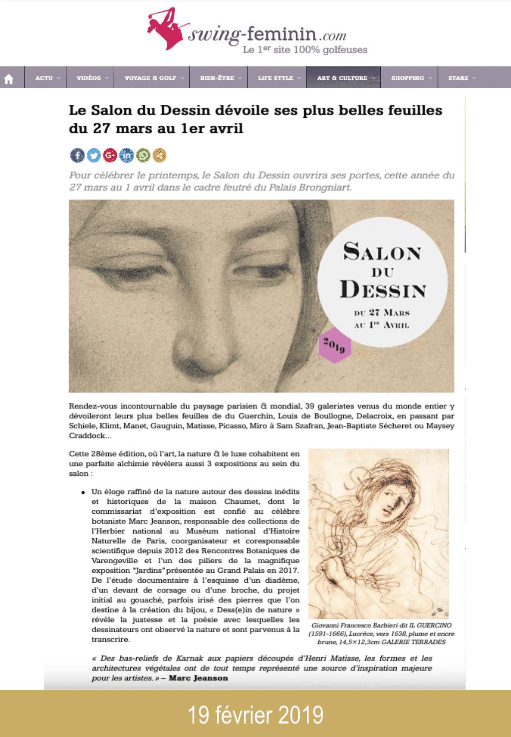 Presse salon du dessin 2019 swing-feminin.com