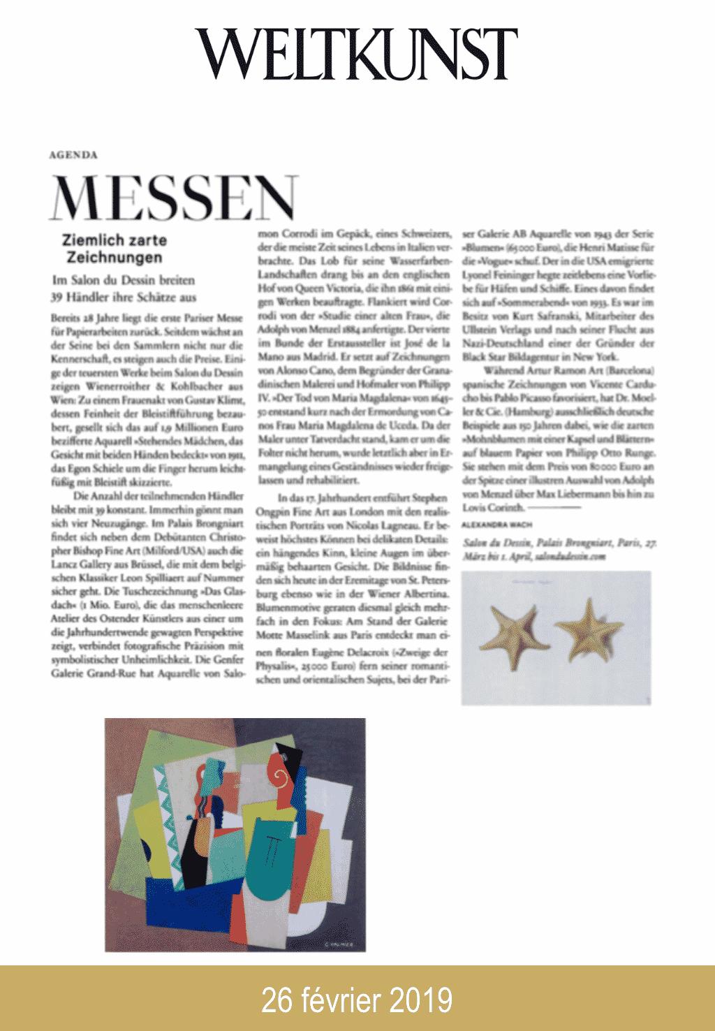 Presse salon du dessin 2019 Welkunst
