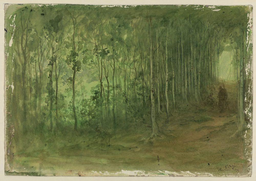 Gustave Doré Sous-bois - Aquarelle sur papier - Musée des Beaux-arts de Marseille