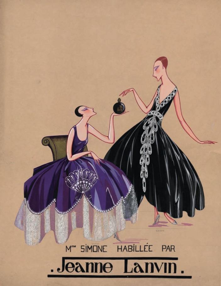 Marguerite Porracchia, Mme Simone habillée par Jeanne Lanvin, 1920-1922 Don Bruno Gaudenzi et Sandra Nahum, 2013 © Marguerite Porracchia