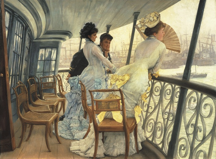 James Tissot (1836 - 1902)La galerie du HMS Calcutta (Portsmouth)Vers 1876Huile sur toileH. 68,6 ; L. 91,8 cmRoyaume-Uni, Londres, Tate Collection© Tate, Londres, Dist. RMN-Grand Palais / Tate Photography