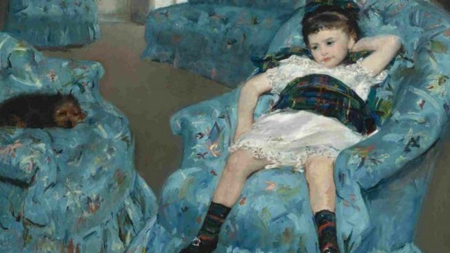 Mary Cassatt, Petite fille dans un fauteuil bleu, 1878, huile sur toile, 89,5 x 129,8 cm © Courtesy National Gallery of Art, Washington