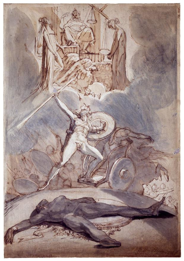 Henry Fuseli, Psychostasie, 1800, New York, Pierpont Morgan Library