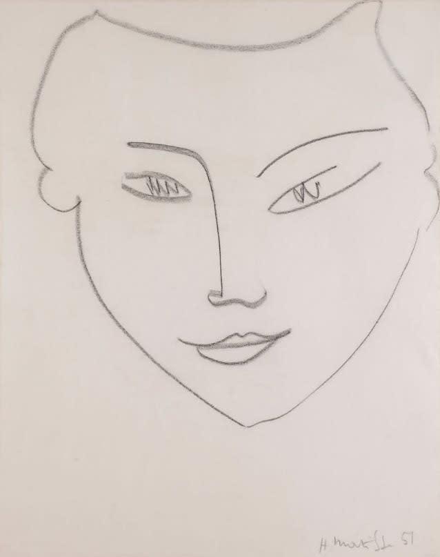 Helene Bailly Gallery, Henri Matisse, Visage de femme