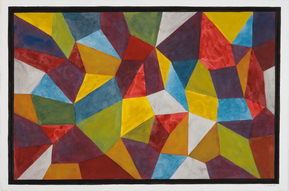 Brame et Lorenceau, Sol Lewitt, Composition 1988
