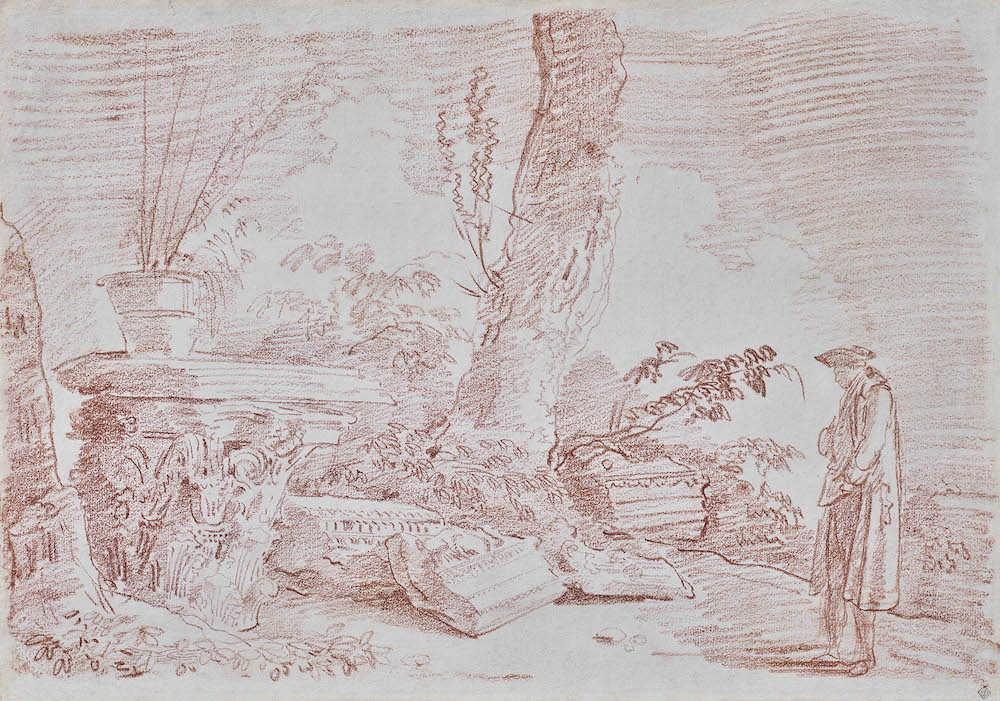 Galerie Eric Coatalem, Hubert Robert, La promenade