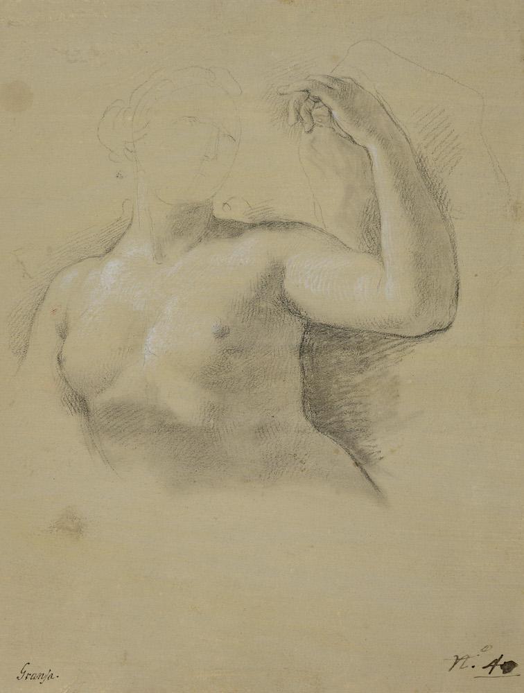 De la Mano, Anton Raphael Mengs, Étude pour l'Ygure de Vénus dans la fresque de l'Apothéose d'Hercule au Palais Royal, Madrid
