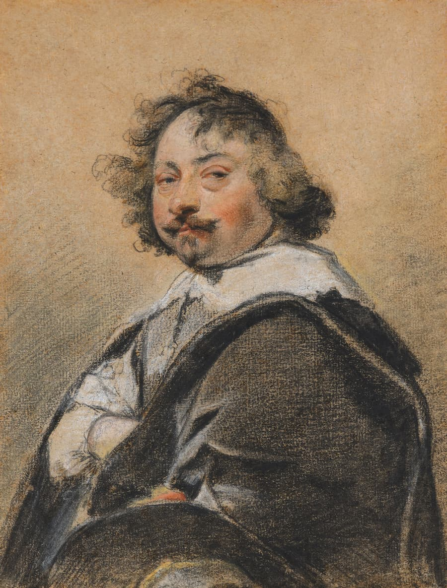 de Bayser, Simon Vouet, Portrait d'homme de profil, tourné vers la gauche