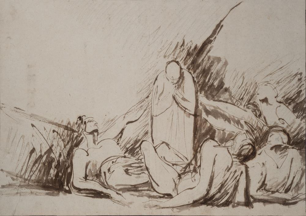 Galerie Grand Rue, George Romney ,John Howard visitant un lazaret