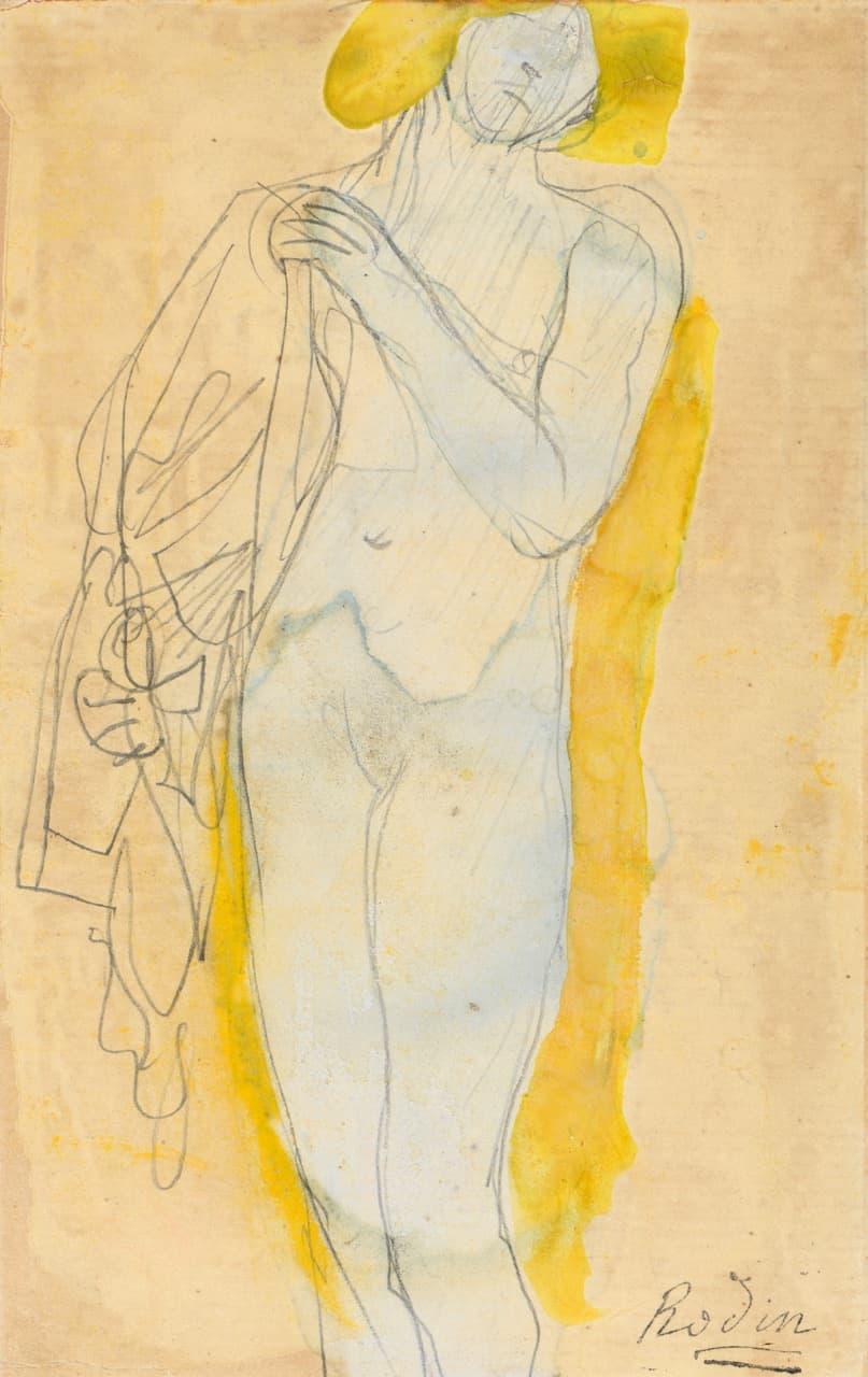 Jeanne Bucher Jaeger, Auguste Rodin, Femme nue à la chevelure blonde tenant un costume