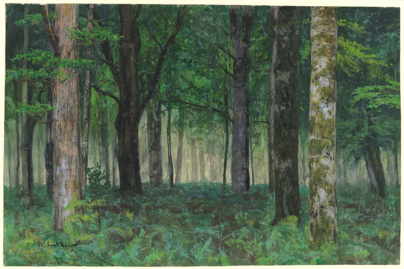 Martin Moeller, Walter Leistikow, La forêt près de Friedrichsruh