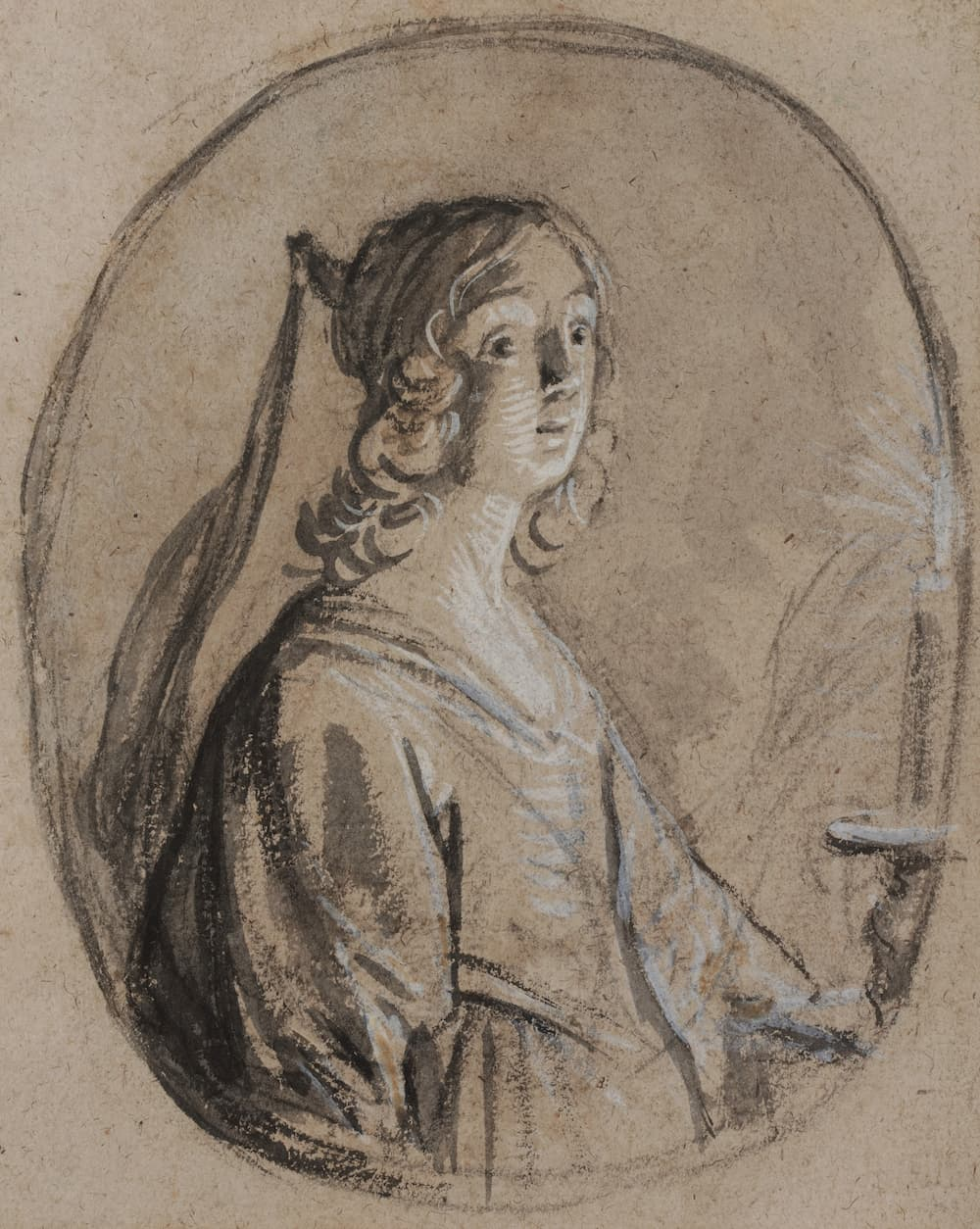 Onno van Seggelen, Gerard Van Honthorst, Jeune femme à la bougie