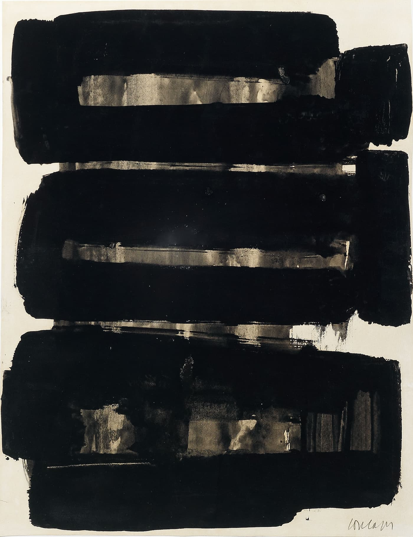 Applicat-Prazan, Pierre Soulages, Sans titre, 1957