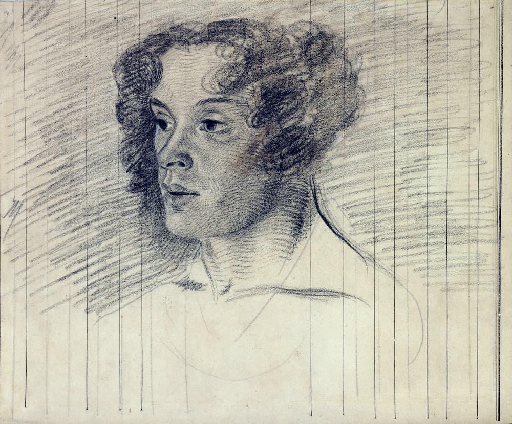 Jill Newhouse ,Eugène Delacroix, Portrait de Mme Pierret