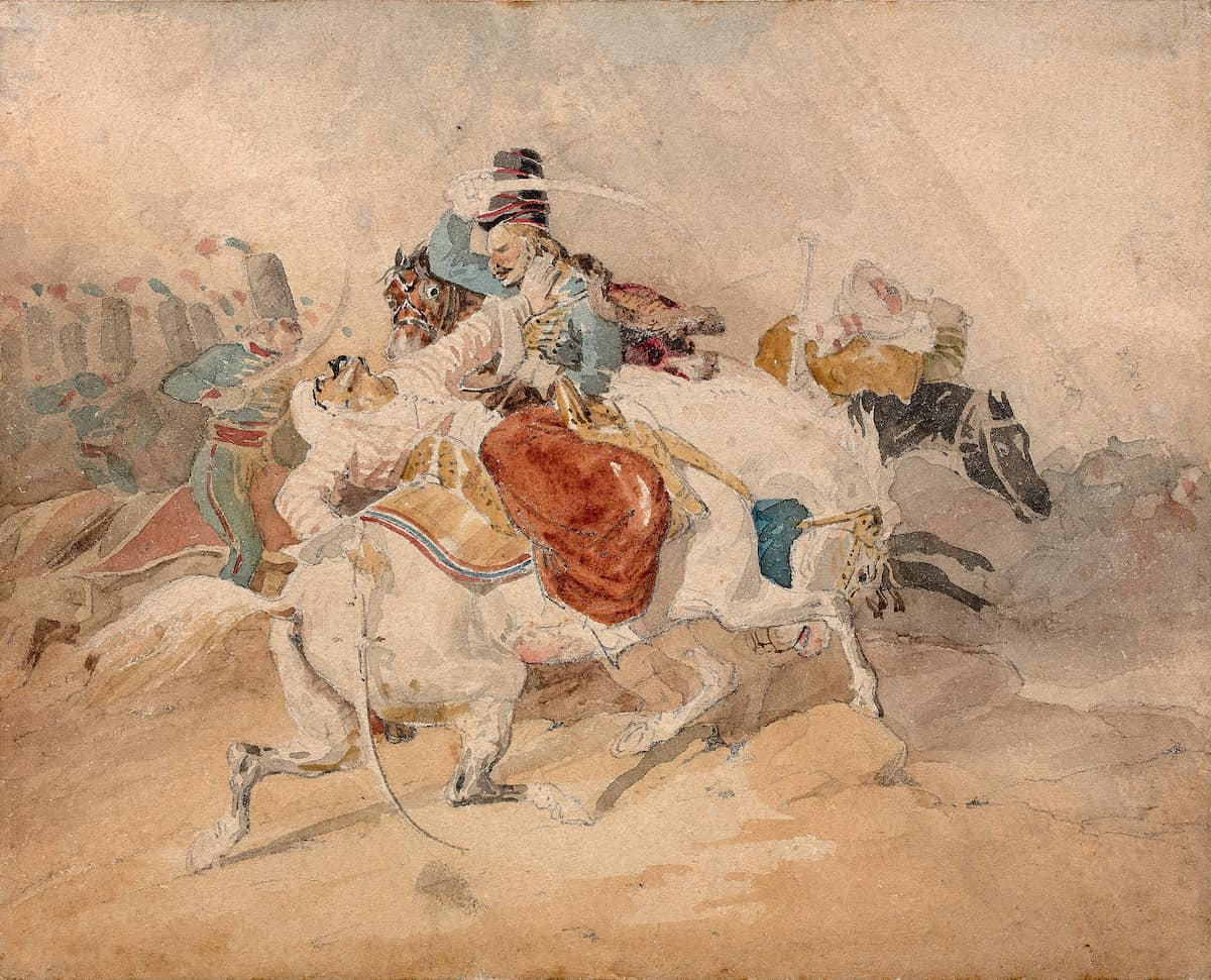N.Motte-Masselink, Théodore Géricault, Choc de Cavalerie : Combat de Hussards et de Mamelucks pendant la campagne d'Égypte